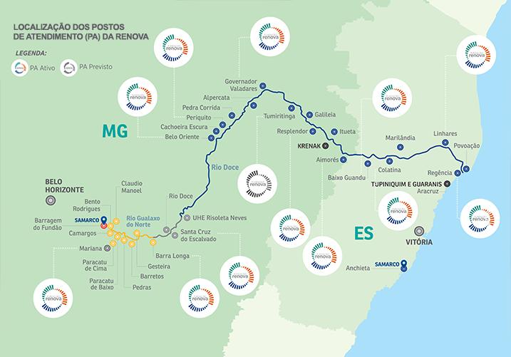 Renova Foundation Service Points installed along the Doce River basin