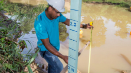 Measuring gauges contribute to the water monitoring work