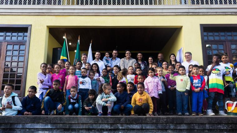 A nova escola para as crianças de Bento Rodrigues tem capacidade para atender 98 alunos.
