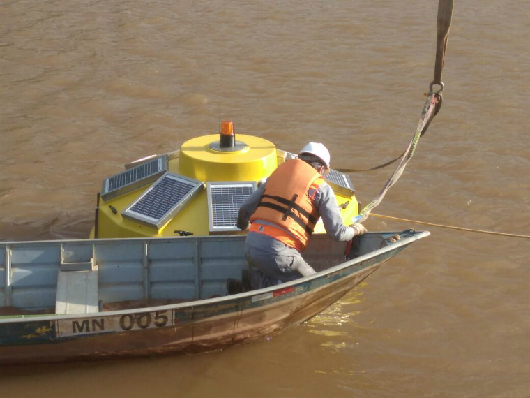 New buoy sends real-time information on Candonga's water quality