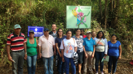 Families of Bento Rodrigues visit the land where the district will be rebuilt
