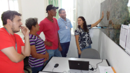 Families from rural areas of Mariana visit the Renova Foundation office