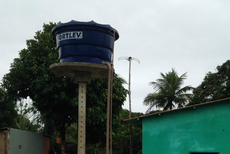 Water tanks will be installed on the properties of Regência, in Espirito Santo.
