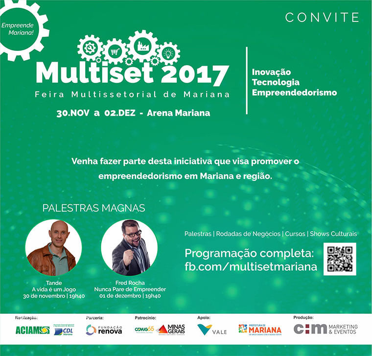 The 2017 MultiSet Fair aims to develop local entrepreneurship and stimulate innovation and technology actions