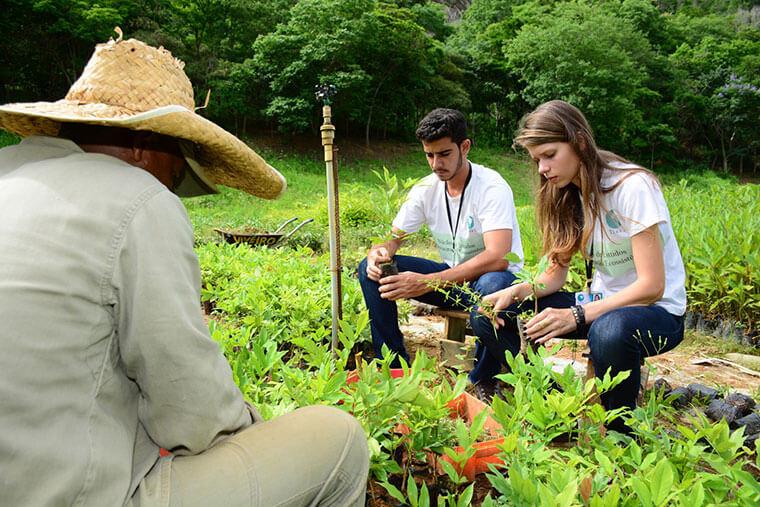 Parceria com o Instituto Terra forma especialistas em restauração florestal. | Foto: Leonardo Morais/Fundação Renova